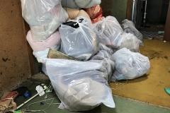 ゴミ屋敷整理で出た大量のゴミ袋たち